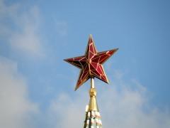 К двадцатилетию Октябрьской революции установлены рубиновые звезды на пяти кремлевских башнях