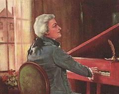Моцарт передал валторнисту Йозефу Игнацу Лейтгебу авторскую рукопись партитуры концерта ми-бемоль мажор для валторны со струнным оркестром