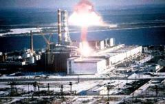 Произошла авария на Чернобыльской АЭС