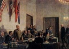В Берлине подписан окончательный Акт о безоговорочной капитуляции Германии, а 9 мая объявлено Днем Победы
