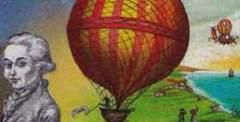 Французские изобретатели братья Монгольфье впервые в истории запустили в воздух тепловой аэростат