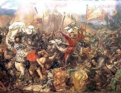 Состоялась Грюнвальдская битва — союзная Польско-Литовская армия одержала победу над армией немецкого рыцарского Тевтонского ордена
