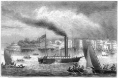 По реке Соне близ Лиона поплыл первый в истории пароход