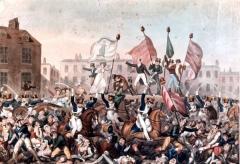 В Манчестере по распоряжению британского правительства войсками был разогнан 60-тысячный рабочий митинг