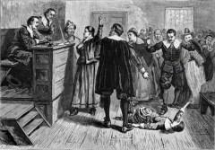 В английской колонии Массачусетс были осуждены за колдовство и повешены пять женщин