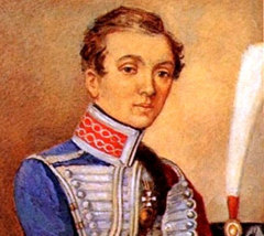 Надежда Дурова в казачьей форме под мужским именем присоединилась к казачьему полку
