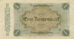 В Веймарской республике была введена в обращение «рентная марка»