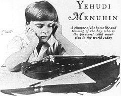 В Париже дебютировал 10-летний гениальный скрипач Иегуди Менухин