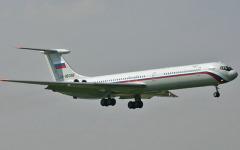Первый полет самолета Ил-62 в СССР